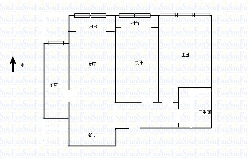 东海香港城 2室2厅 27楼