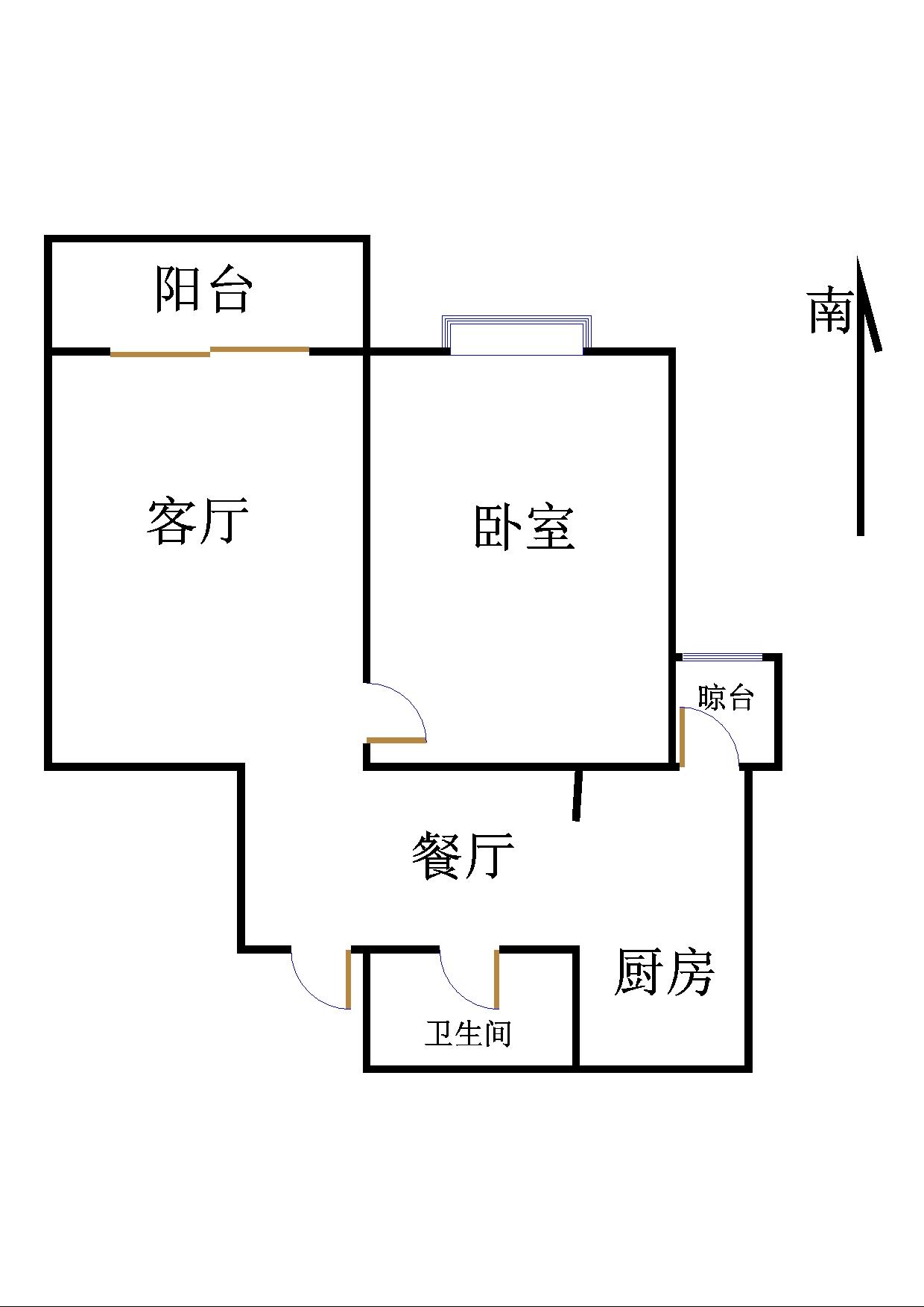 泰和名仕港 1室2厅 18楼