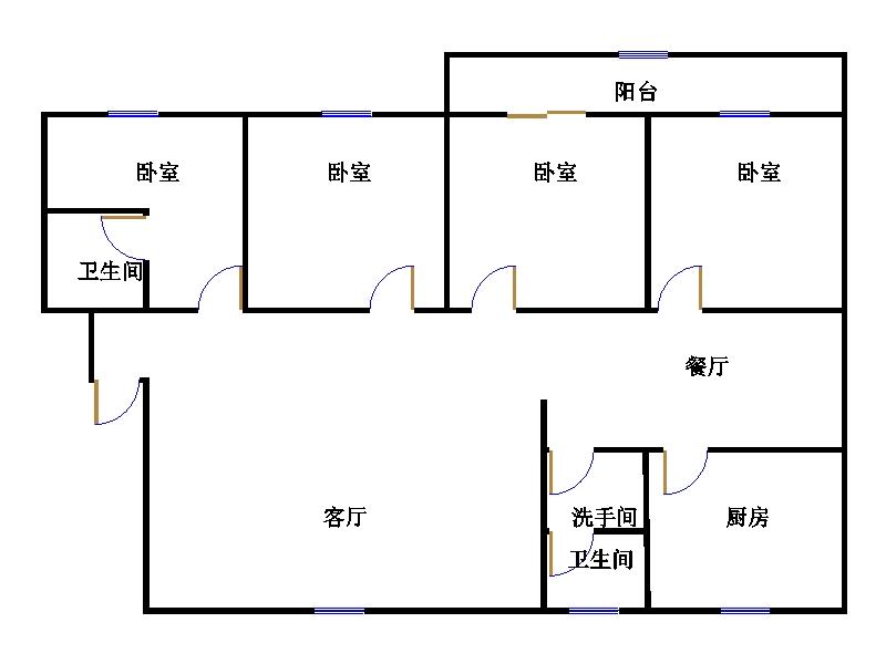 水文队宿舍 4室2厅 5楼