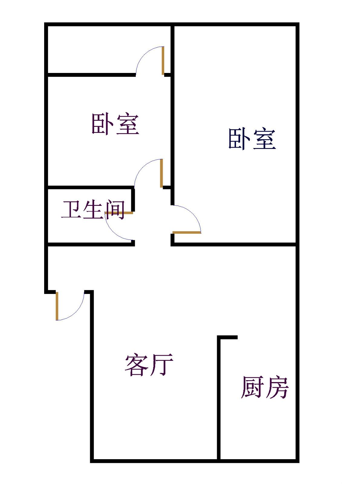 吉祥苑 2室2厅 2楼