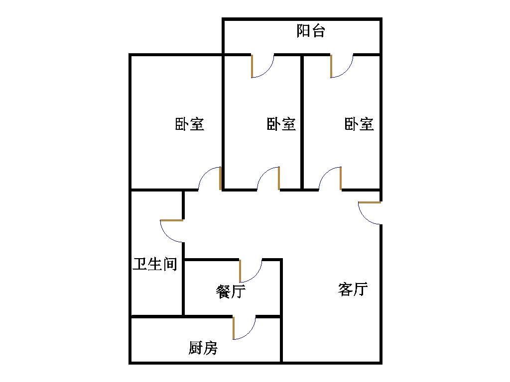 广播电视局 3室1厅 5楼