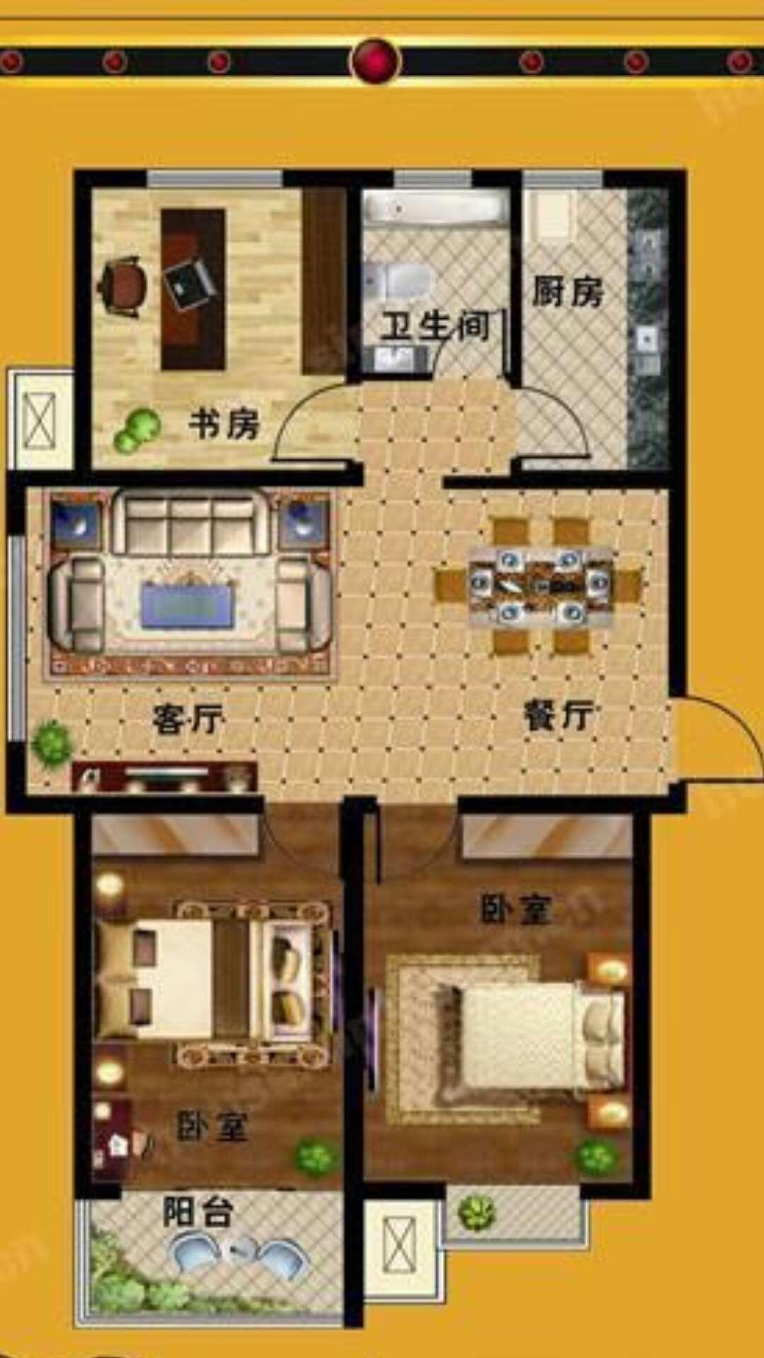 万豪华庭公馆 3室1厅 4楼
