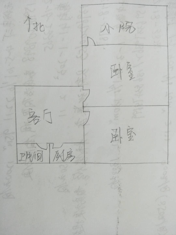 刨花板厂宿舍 2室1厅 1楼