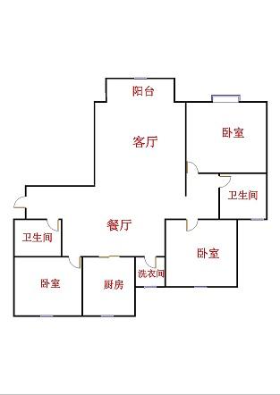 鲁班御景国际 3室2厅 16楼