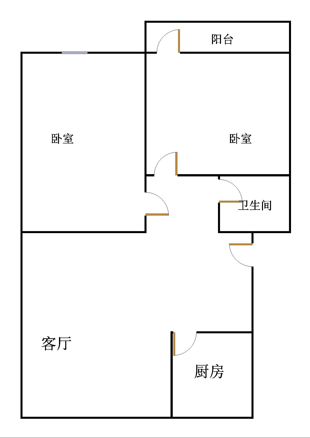 金卉小区 2室1厅  简装 25万