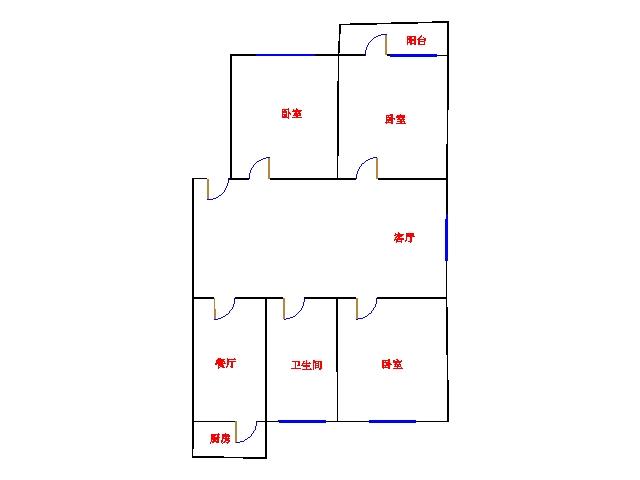 和平公寓南区 2室1厅 双证齐全 精装 45万