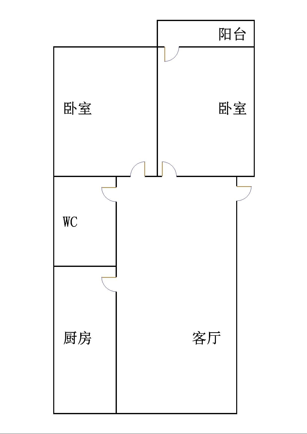 北园小区 2室2厅 5楼