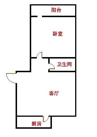 长河小区 1室2厅  简装 46万