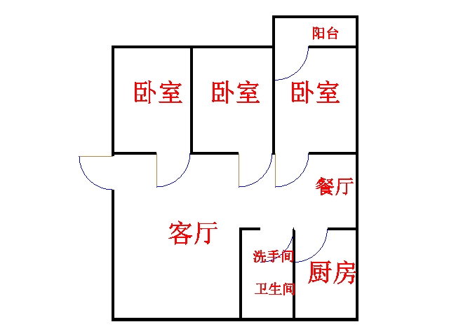 金谷园小区 3室2厅 3楼