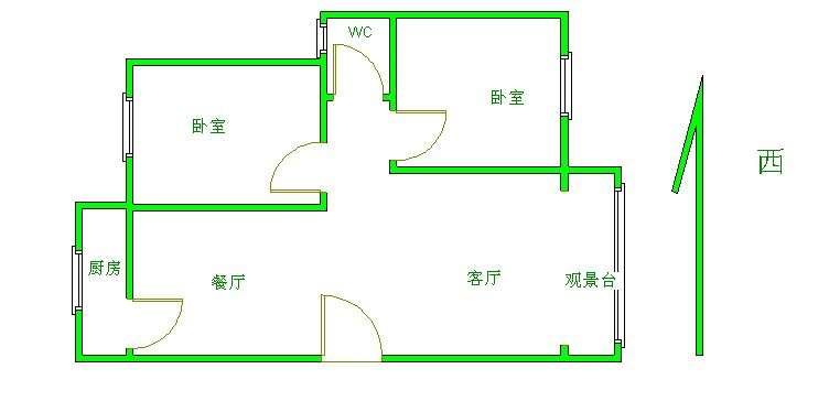 高地世纪城 2室2厅 3楼
