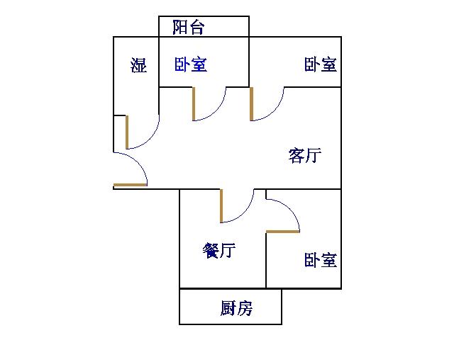 水利局宿舍(天衢路) 3室2厅 6楼