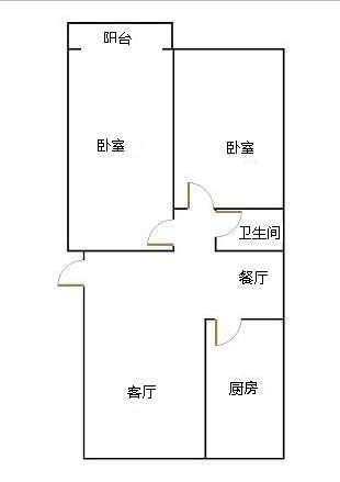 锦苑 2室2厅 2楼