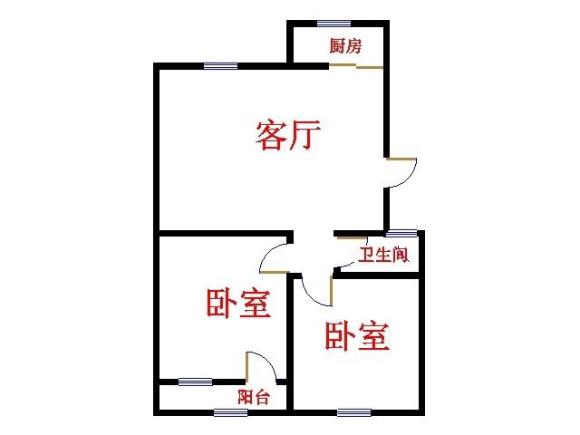 嘉御园 2室1厅 4楼