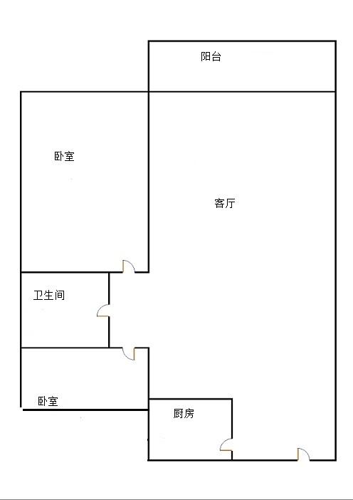 古韵大东关 2室1厅 22楼