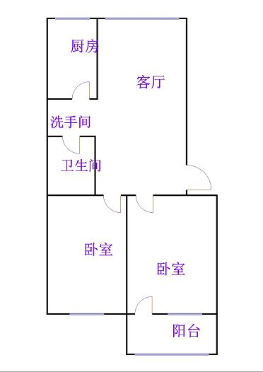 天华小区 2室1厅 2楼