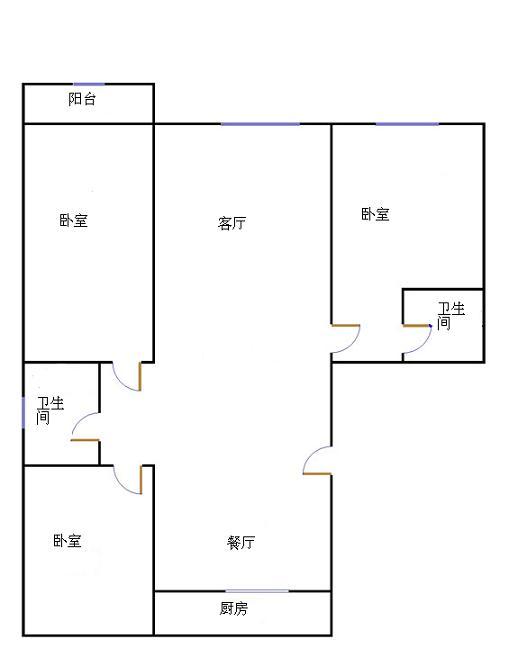 天钰铭城 3室2厅 16楼