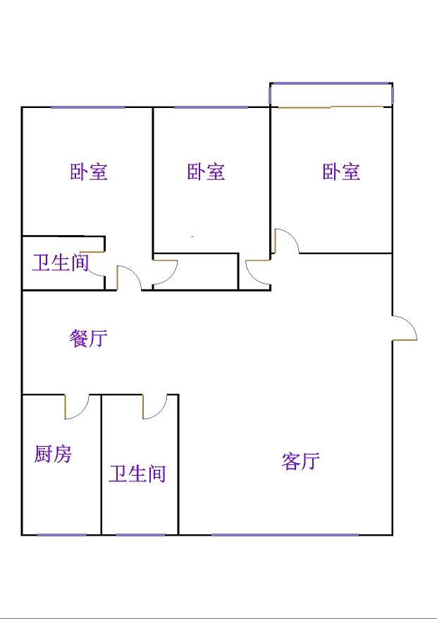 盛和景园 3室2厅 2楼