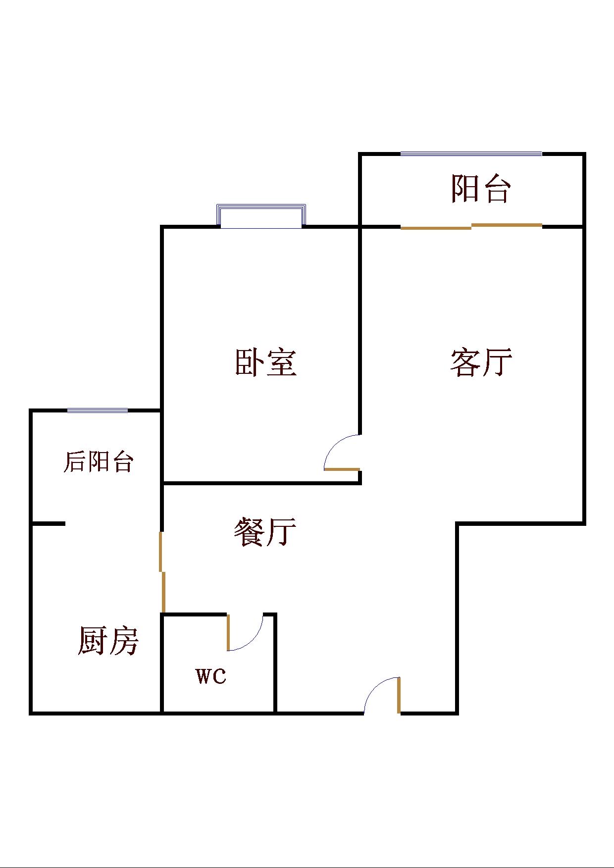 泰和名仕港 1室2厅 14楼