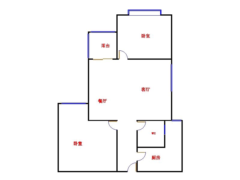 凯旋花园 2室2厅 17楼