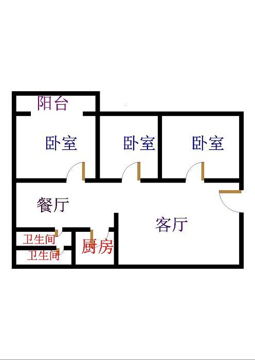 和平公寓北区 3室2厅  简装 117万