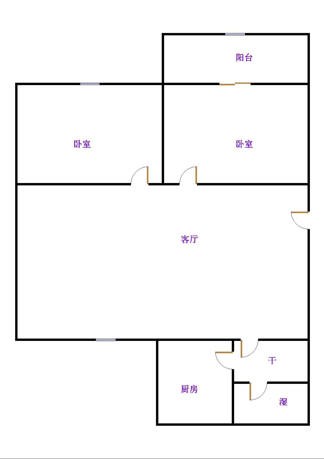东长庄园 2室2厅 4楼