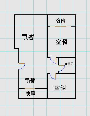 金紫荆花园 2室2厅 6楼