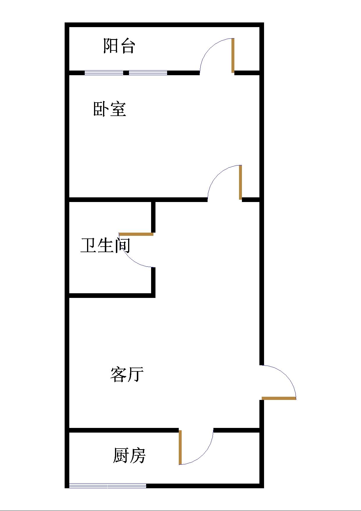 长河小区 1室1厅 1楼