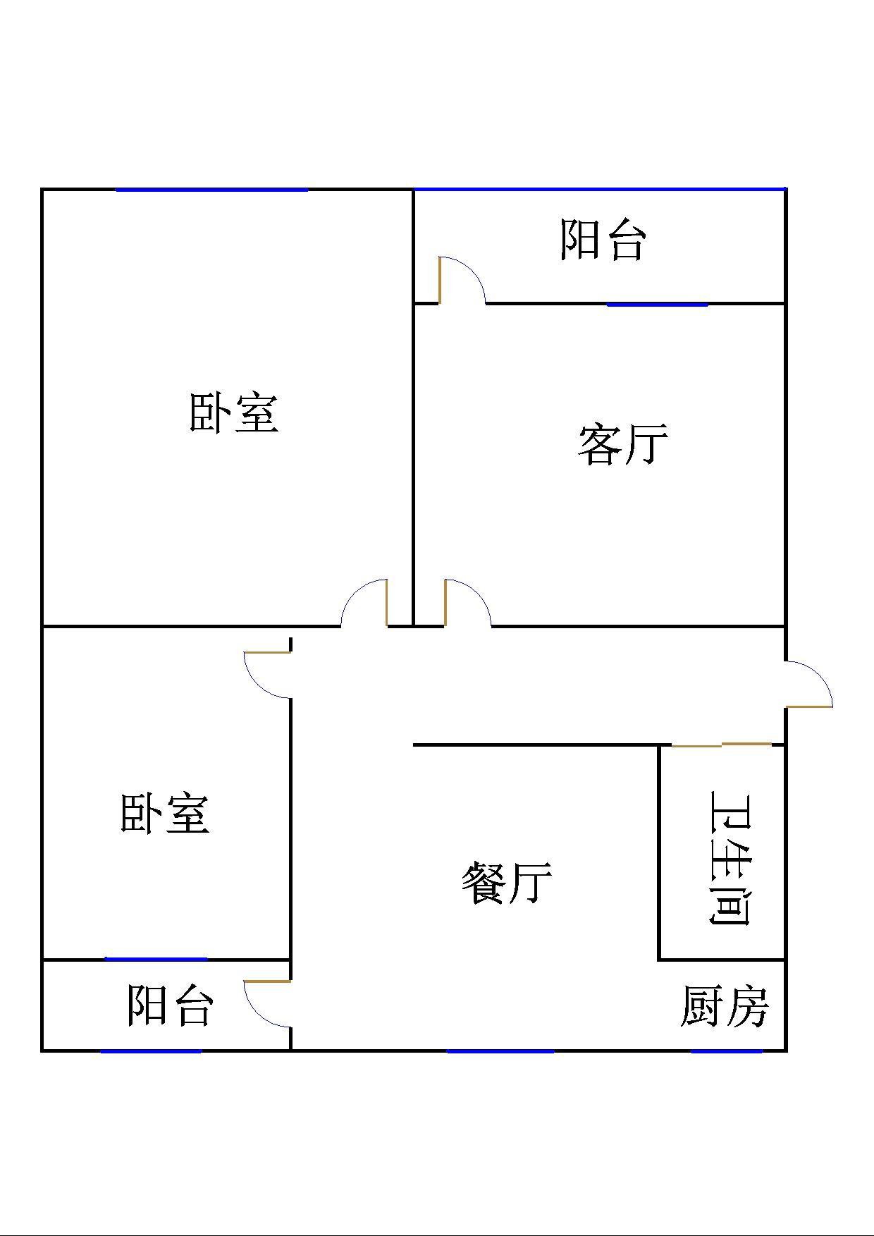 二棉宿舍 2室1厅 5楼