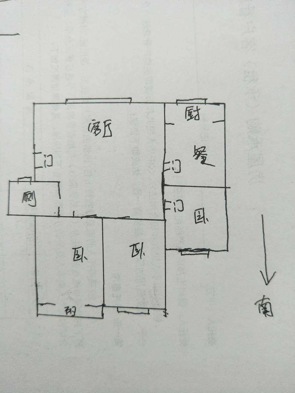 区法院宿舍 3室2厅  简装 80万