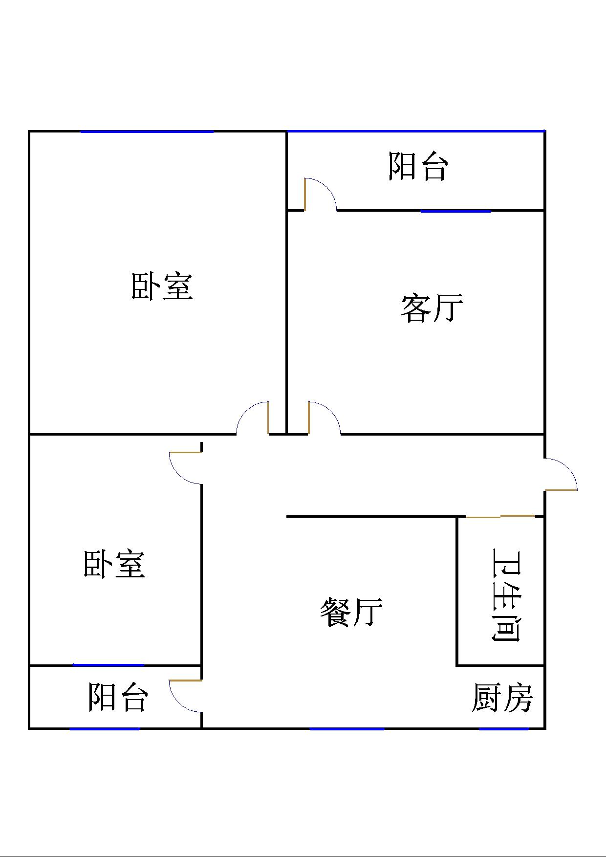 二棉宿舍 3室2厅 4楼