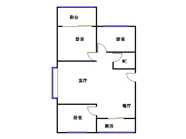 尚城国际 3室2厅 3楼