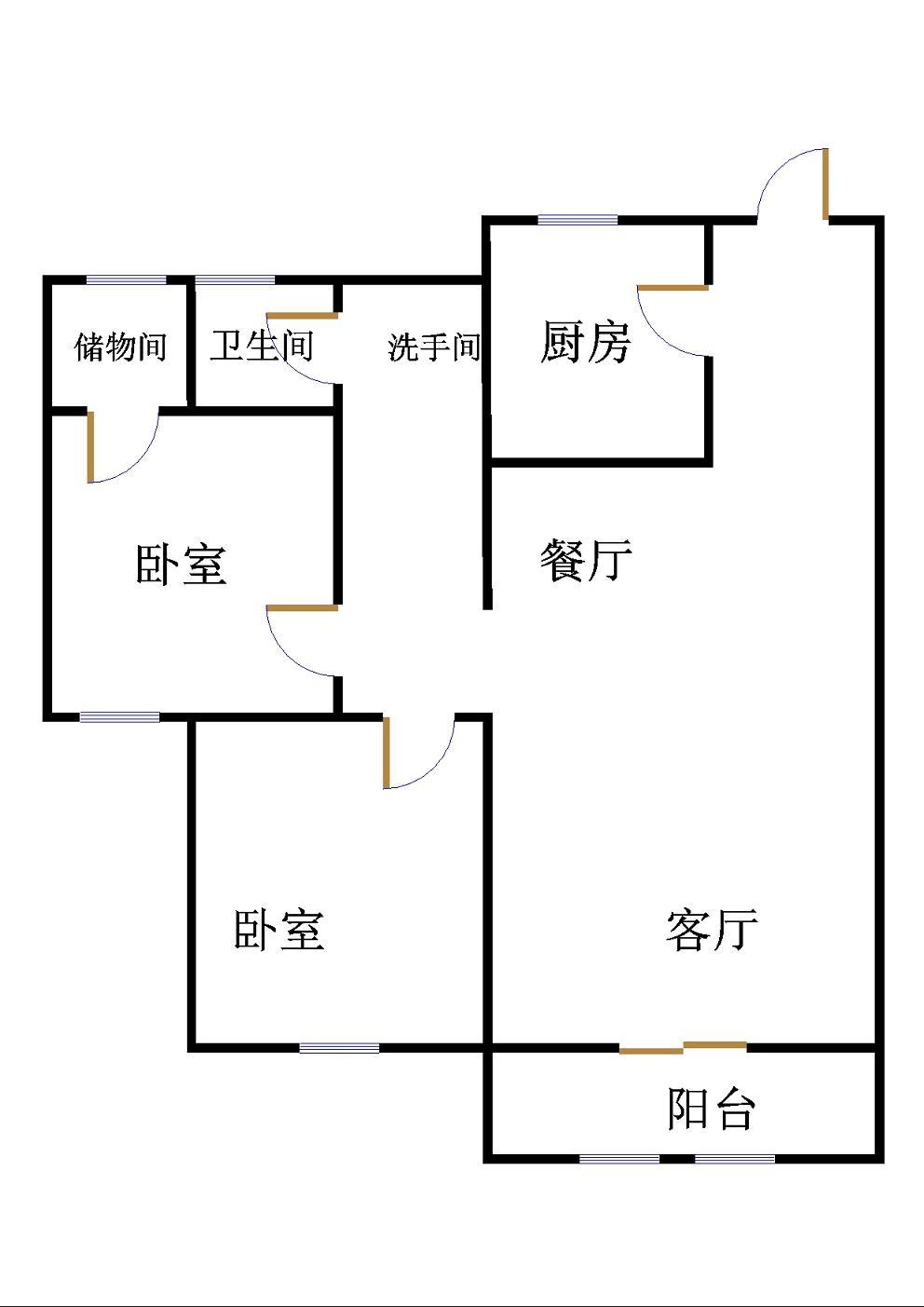 唐人中心 2室2厅  精装 120万