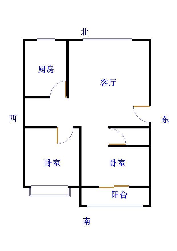 岔河紫薇园 2室2厅 2楼