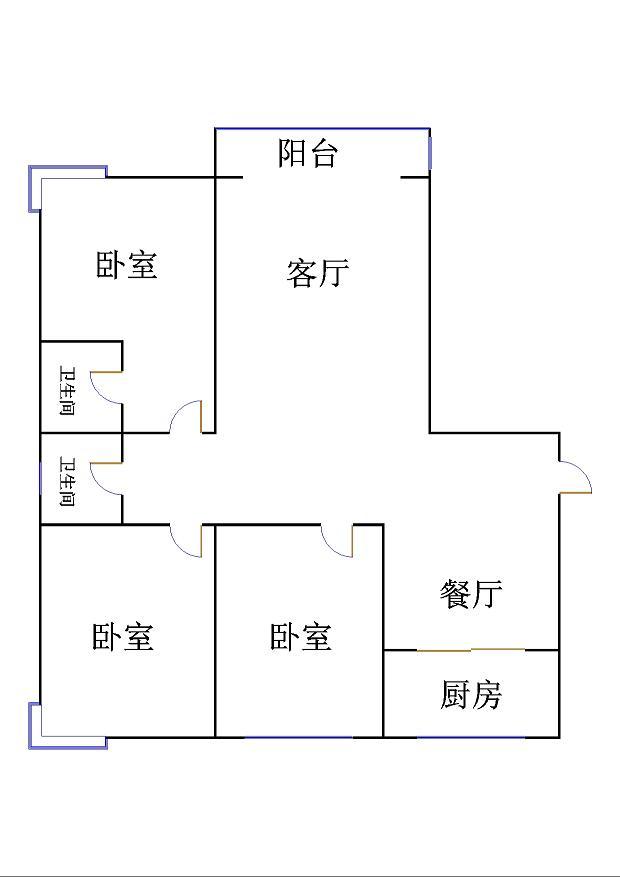 东方明珠小区 3室2厅 11楼