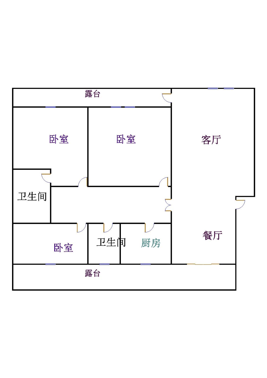农科所宿舍 3室2厅 双证齐全 简装 75万