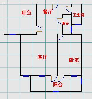 东方明珠小区 2室2厅 8楼