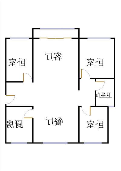 中建华府(欧香丽都) 3室2厅 5楼