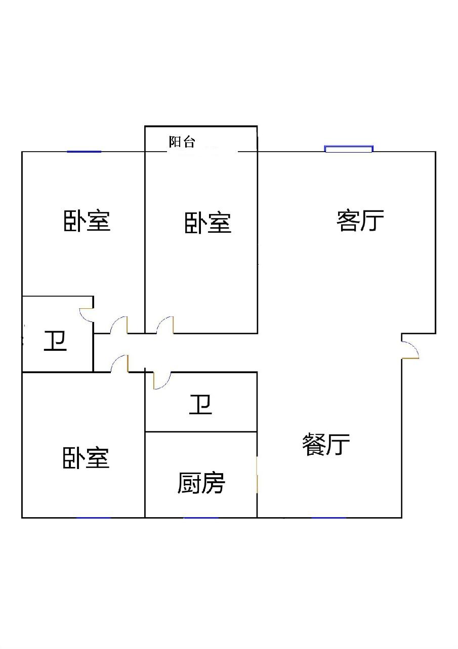 金都花园 3室2厅 6楼