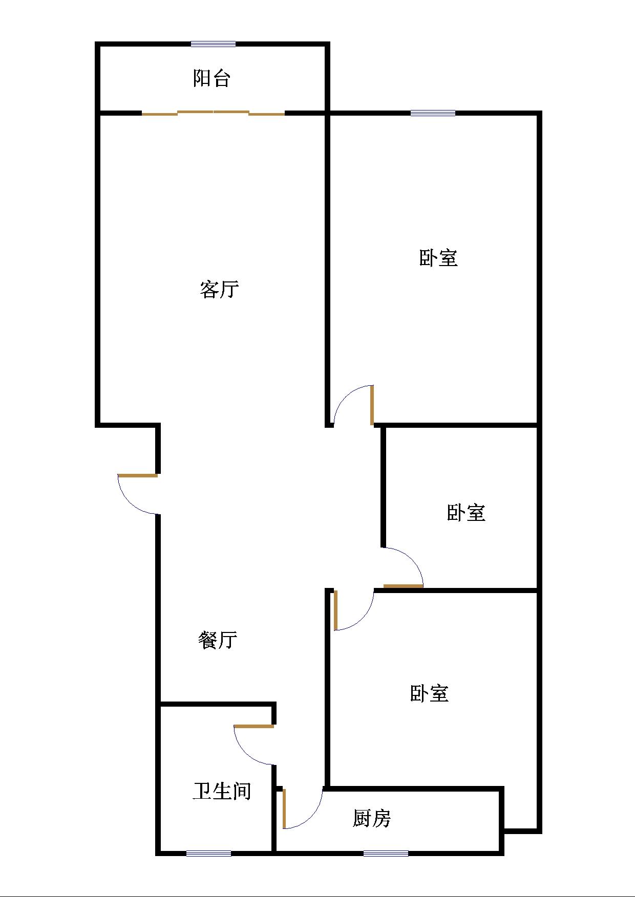 高地世纪城 2室2厅 5楼