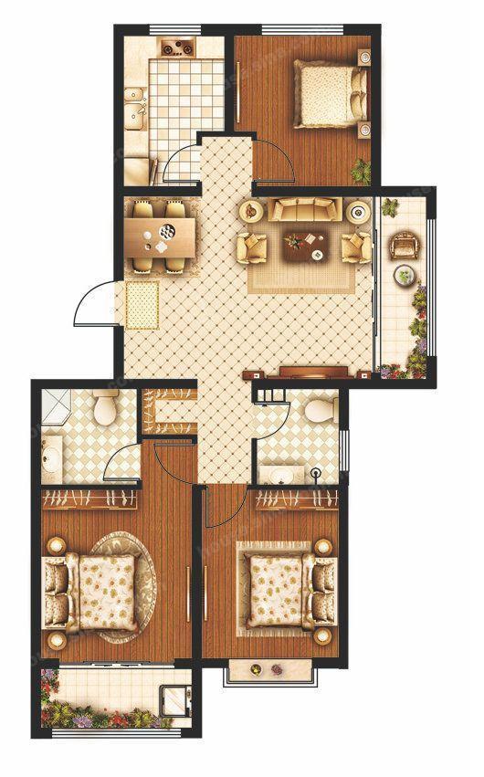 康博公馆 1室1厅 16楼