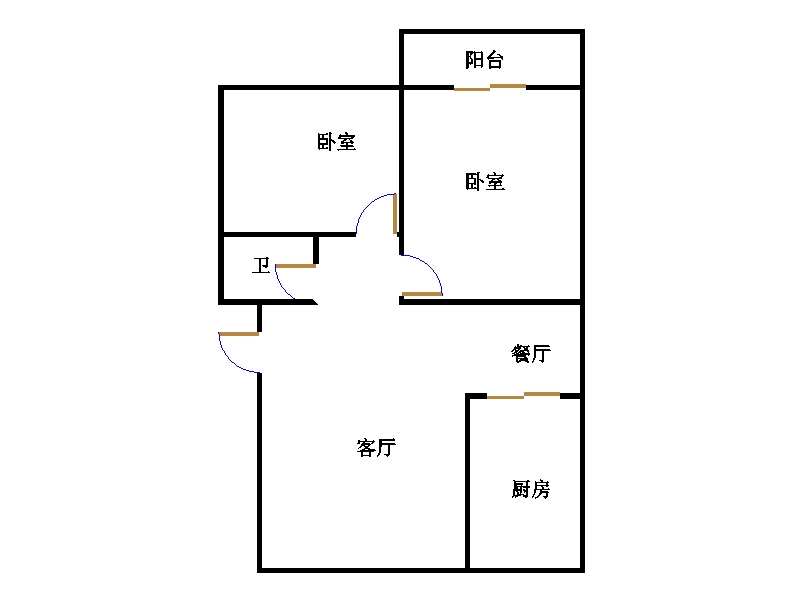 金卉小区 2室2厅 4楼