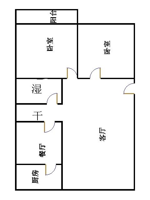 肖何庄小区 2室2厅  简装 45万