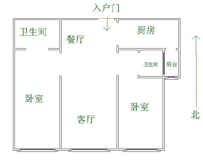 康博公馆 2室2厅 22楼
