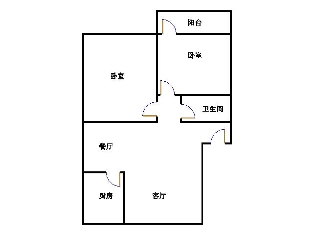 吉祥苑 2室2厅 4楼