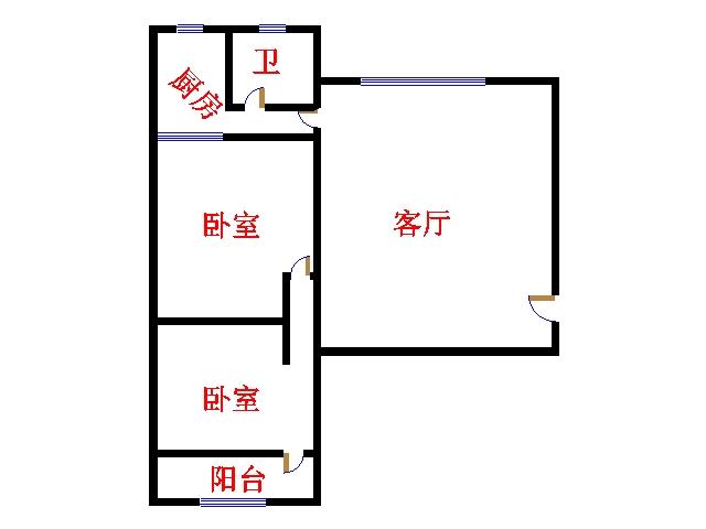 青龙潭小区 2室2厅  简装 90万