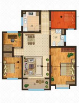 康博公馆 3室2厅 12楼