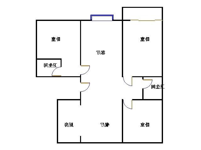 天钰铭城 3室2厅 5楼