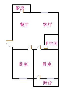 虹桥小区 2室1厅 3楼