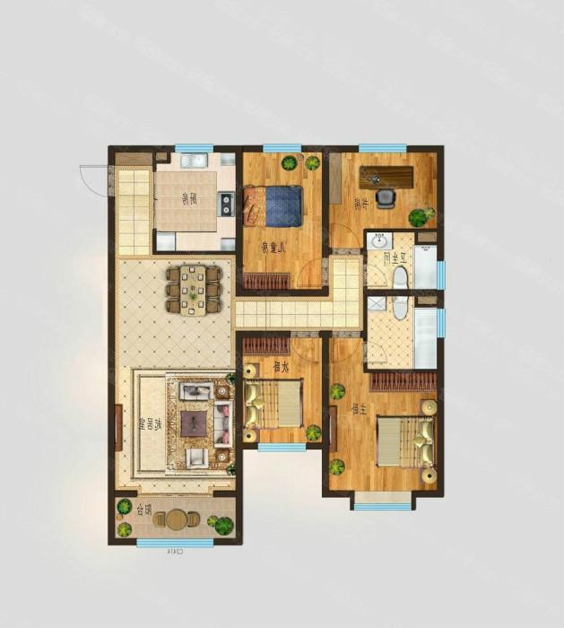 康博公馆 3室2厅 30楼