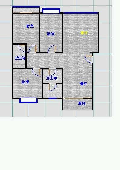 名仕雅居小区 3室2厅 4楼